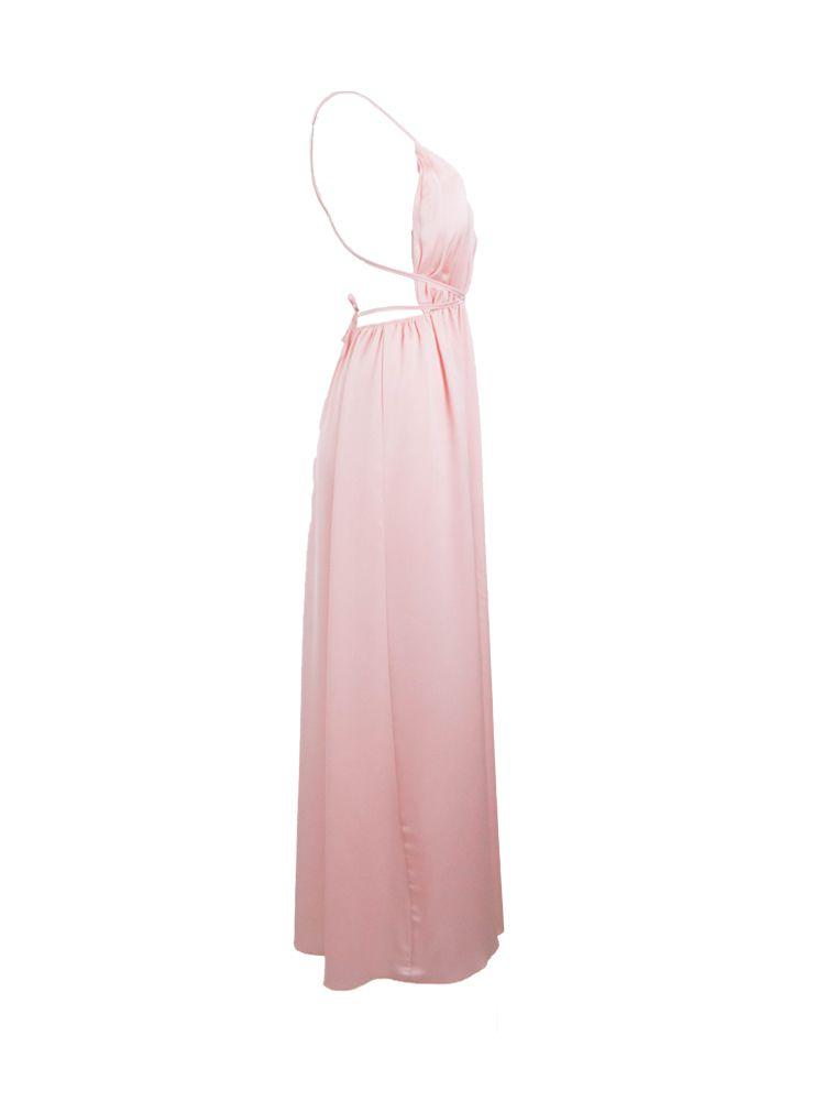 Φόρεμα αέρινο μακρύ σατέν Φορέματα 2 128