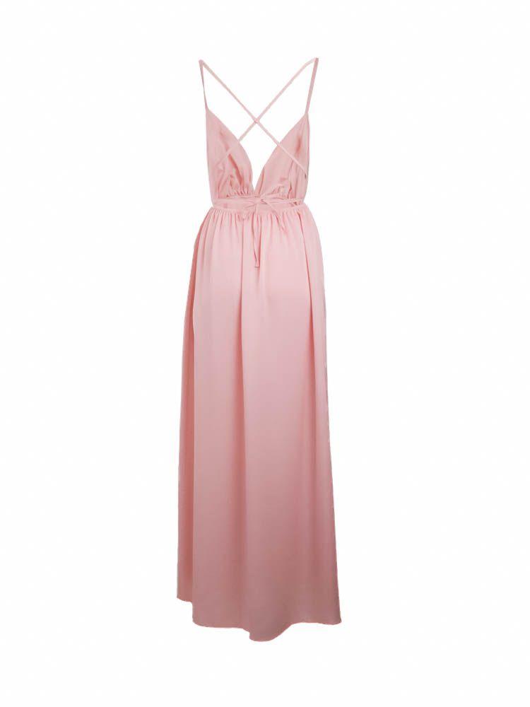 Φόρεμα αέρινο μακρύ σατέν Φορέματα 3 112