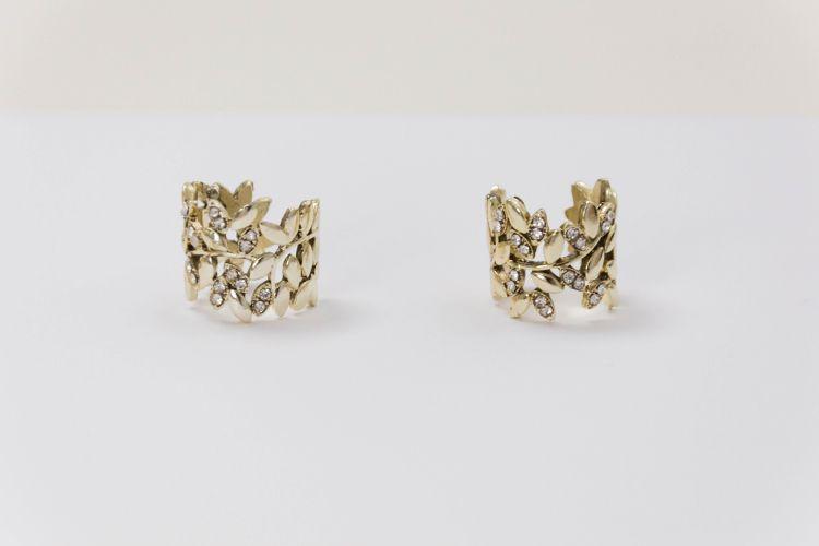 Δαχτυλίδι χρυσό φαρδύ με στρας 45a0a61c474