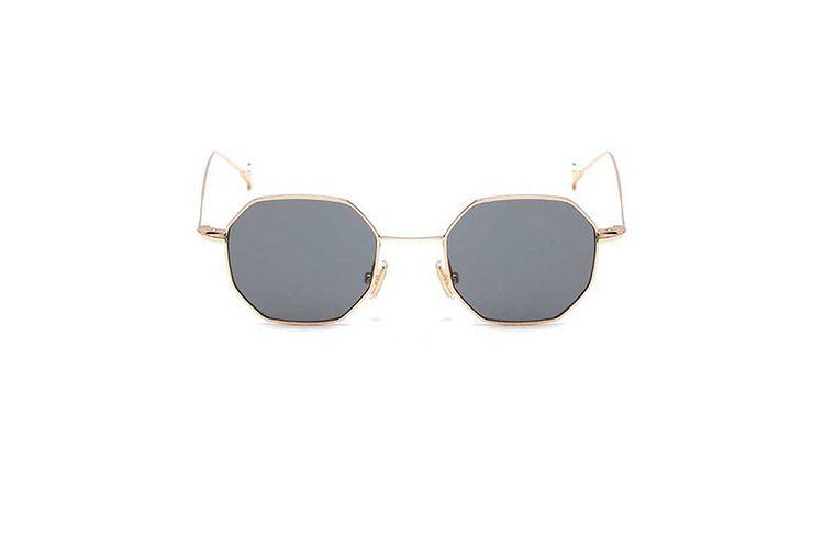 Γυαλιά ηλίου πολύγωνο με χρυσό σκελετό και γκρι φακό Beachwear, Γυαλιά Ηλίου 5 11