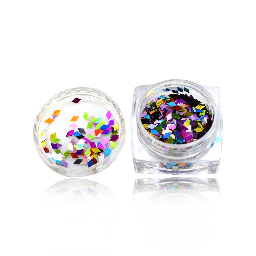 Glitter σώματος flakes Accessories, glitter 1 box Rhombus Holo Colorful 3D Nail Art Sequin Glitter Slice Paillette Nail Art Flakes Manicure 8