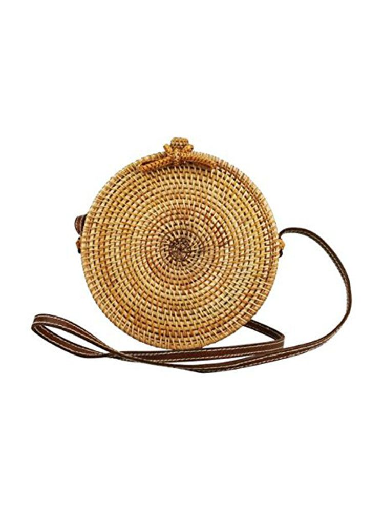 Ψάθινη τσάντα σκληρή στρογγυλή Τσάντες, Τσάντες bamboo, Τσάντες ώμου, Ψάθινες τσάντες 1 58