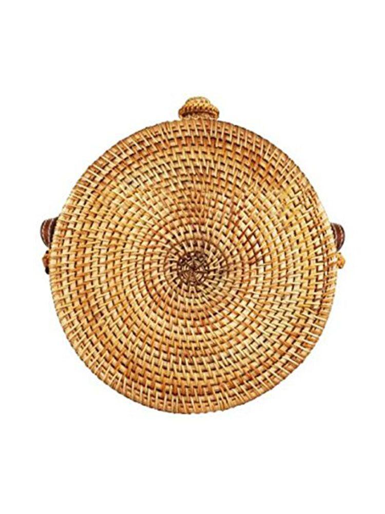 Ψάθινη τσάντα σκληρή στρογγυλή Τσάντες, Τσάντες bamboo, Τσάντες ώμου, Ψάθινες τσάντες 3 40
