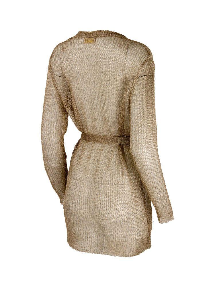 Κιμονό φόρεμα χρυσό μεταλιζέ με ζώνη κοντό Γυνακεία ρούχα, Φορέματα, Κιμονό 3 44