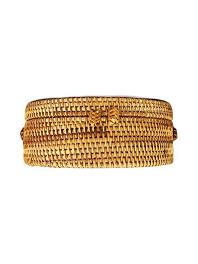 Ψάθινη τσάντα σκληρή στρογγυλή Τσάντες, Τσάντες bamboo, Τσάντες ώμου, Ψάθινες τσάντες 4 4