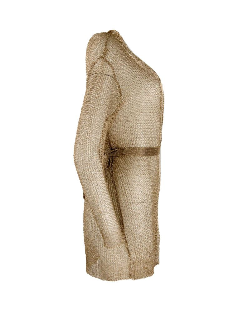 Κιμονό φόρεμα χρυσό μεταλιζέ με ζώνη κοντό Γυνακεία ρούχα, Φορέματα, Κιμονό 4 7