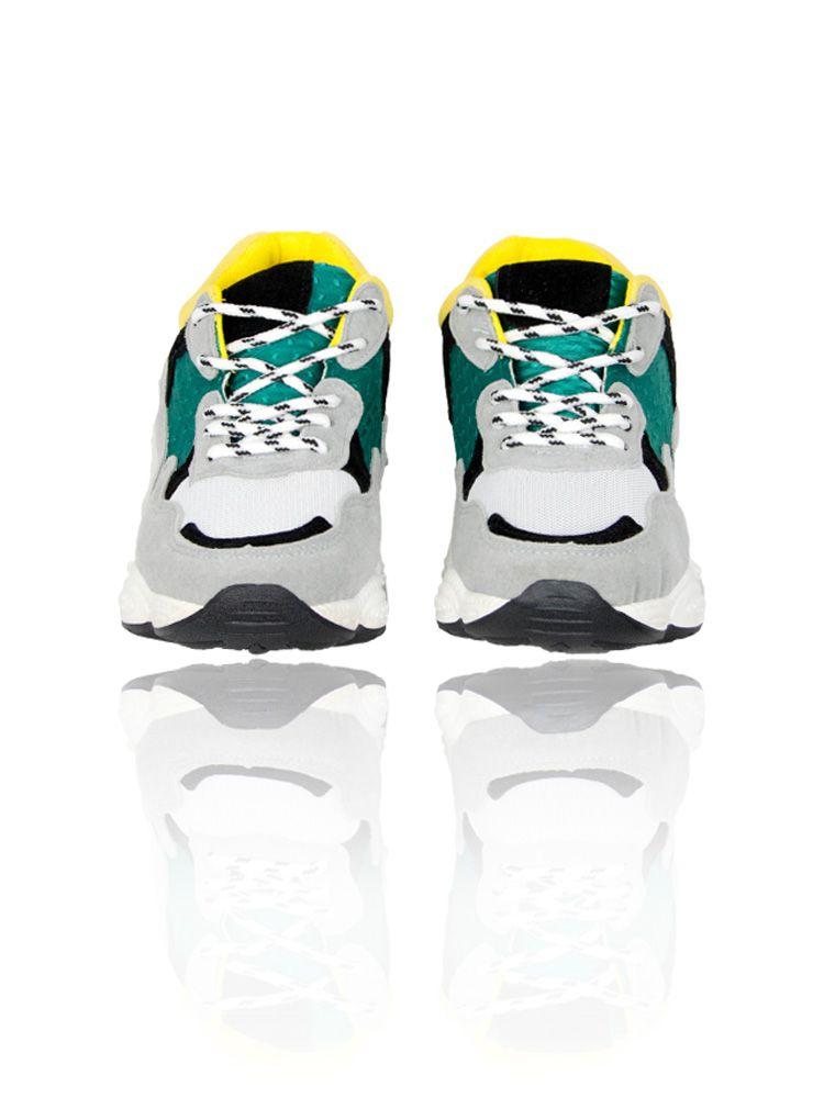 Sneakers με φαρδιά σόλα και κίτρινες πράσινες λεπτομέρειες Sneakers 1 27 9e748429577