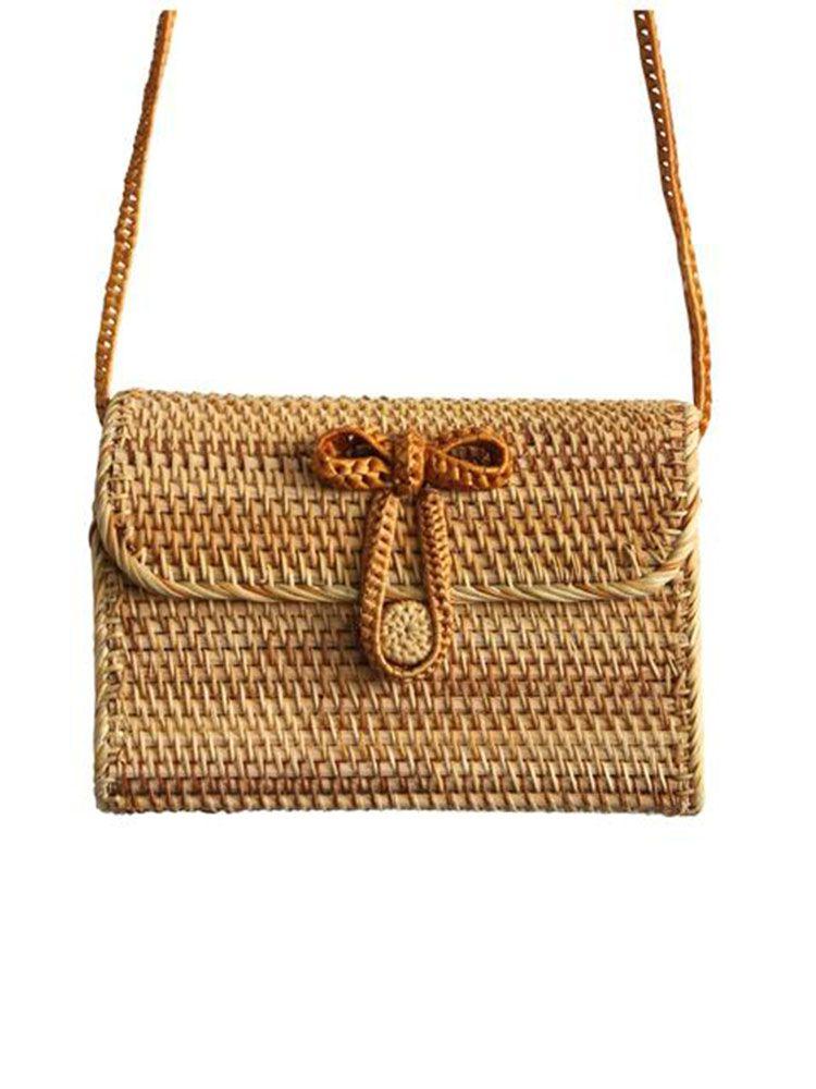 Τσάντα μπαμπού σκληρή φάκελος Τσάντες, Τσάντες bamboo, Τσάντες ώμου, Ψάθινες τσάντες 2 31