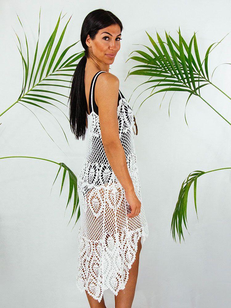 41b554753842 Φόρεμα πλεκτό με ανάγλυφη δαντέλα - Style.gr