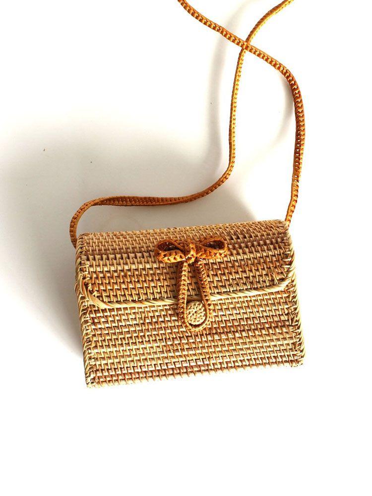 Τσάντα μπαμπού σκληρή φάκελος Τσάντες, Τσάντες bamboo, Τσάντες ώμου, Ψάθινες τσάντες 3 29