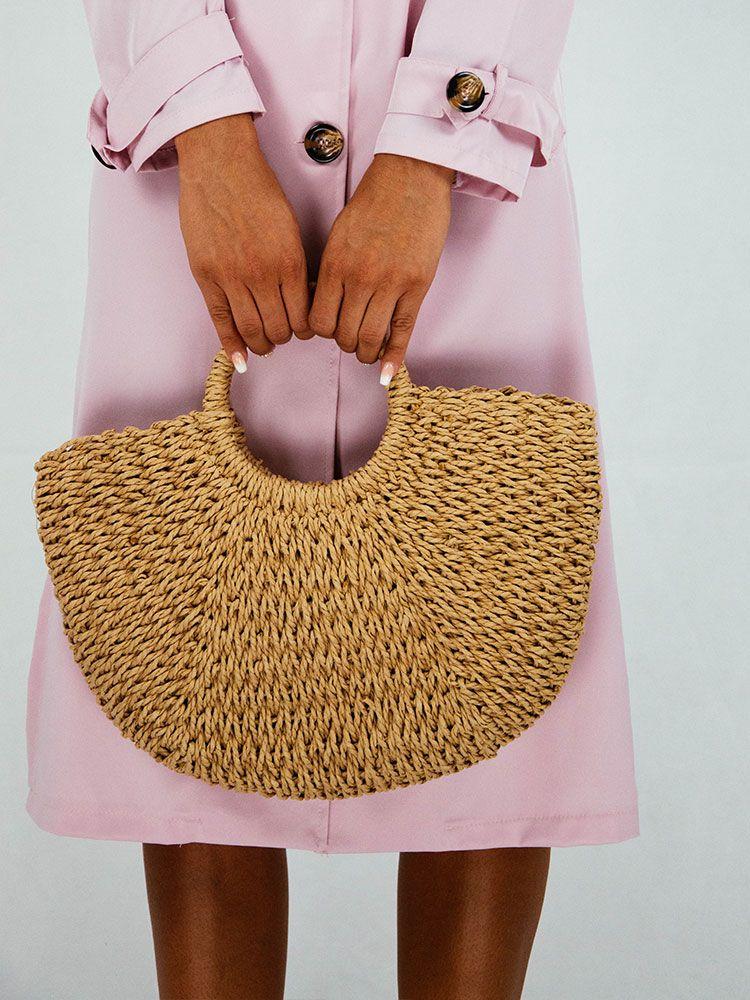 Ψάθινη τσάντα με στρογγυλή λαβή Ψάθινες τσάντες 1 13
