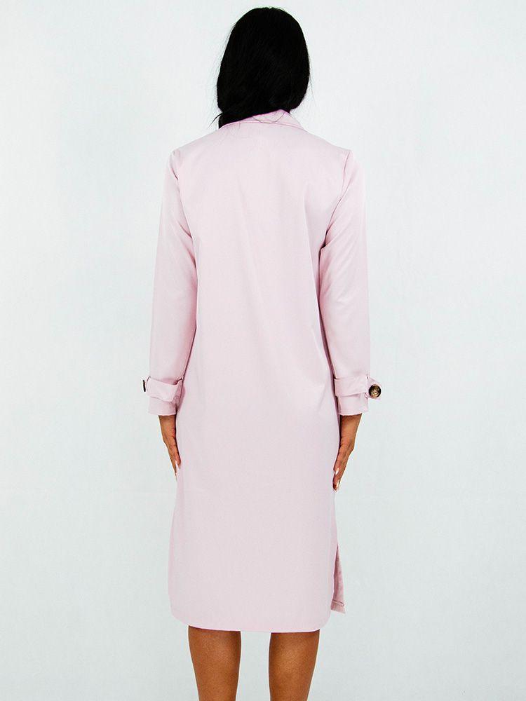 Φόρεμα midi ροζ με κουμπιά Φορέματα 3 14