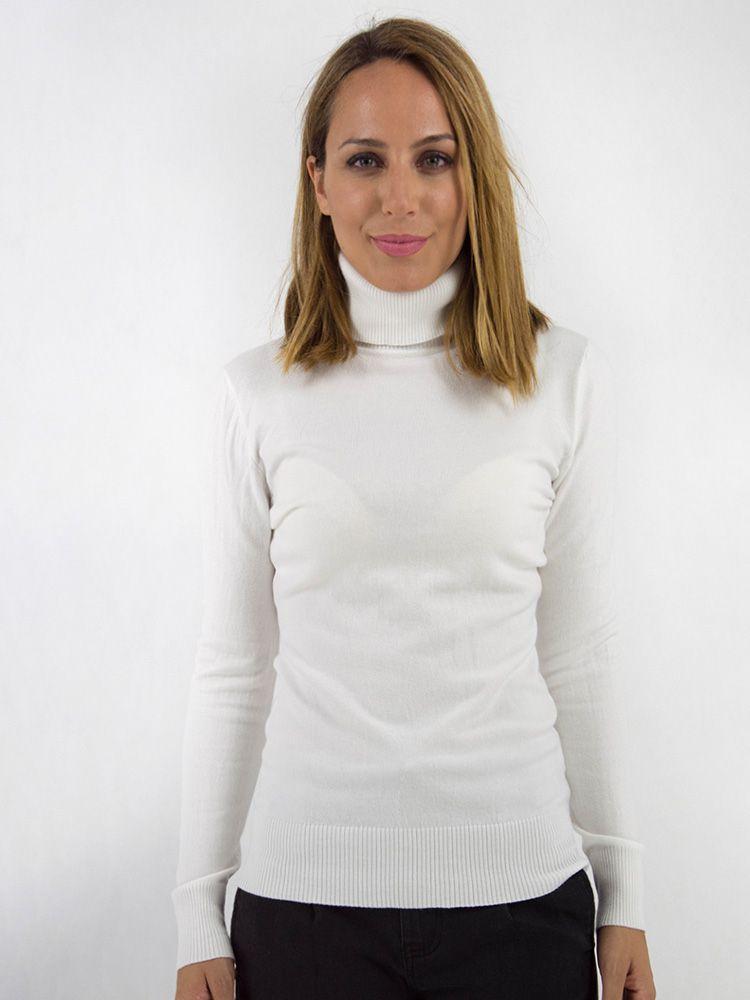 Μπλούζα πλεκτή ζιβάγκο λευκή 8f8f8f08299