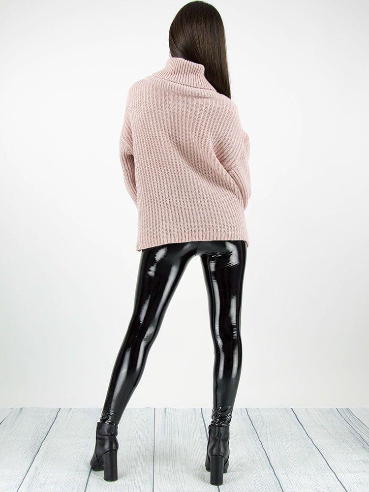 Πλεκτό πουλόβερ ζιβάγκο ροζ Μπλούζες 3 4