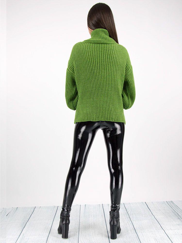 Πλεκτό πουλόβερ ζιβάγκο πράσινο Μπλούζες 4 1
