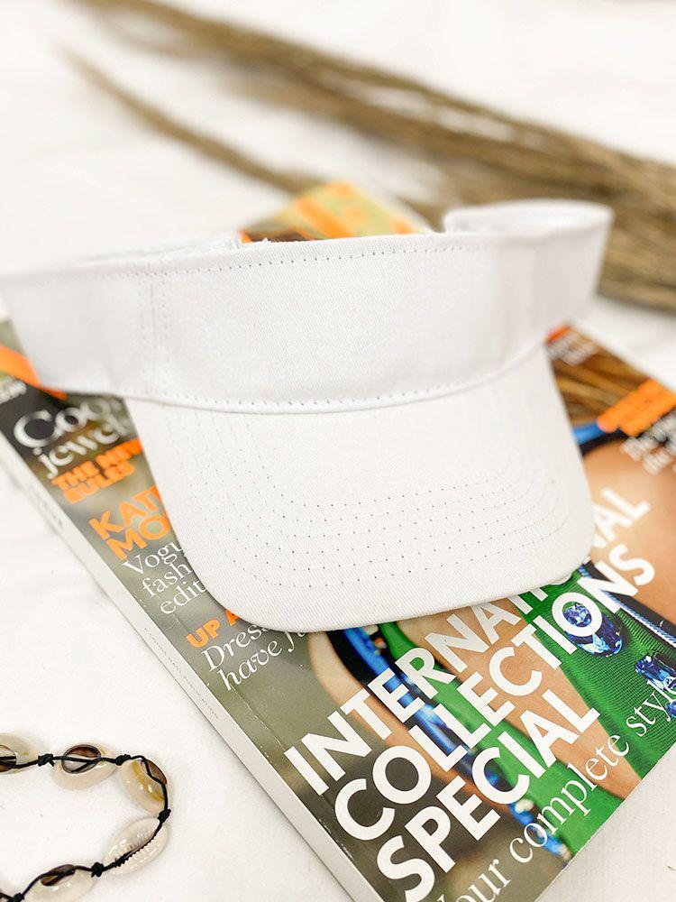 Καπέλο visor άσπρο